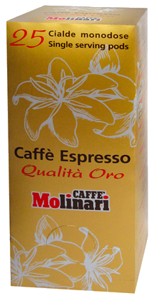 Molinari Oro coffee pods 25pcs