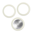 Bialetti filter and gaskets for 6 cups coffee makers made of aluminum