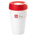 illy live happilly KeepCup coffee cup white 454ml