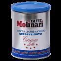 Molinari Cinque Stelle decaffeinato tincan ground coffee 250g
