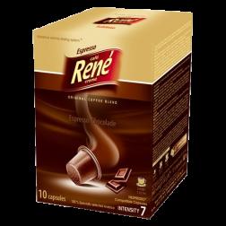 Café René Espresso Chocolade Nespresso coffee capsules 10pcs expired date