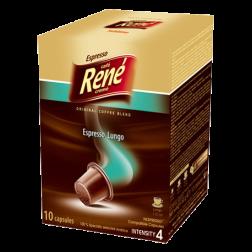 Café René Espresso Lungo Nespresso coffee capsules 10pcs expired date