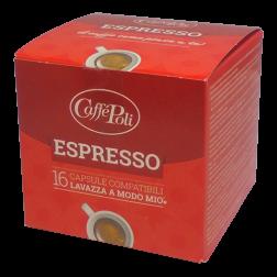 Caffè Poli A Modo Mio Espresso coffee capsules 16pcs