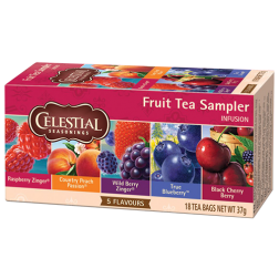 Celestial tea Fruit tea Sampler tea bags 18pcs expire soon