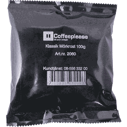 Coffeeplease darkroast ground filter coffee 100g