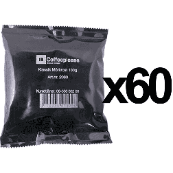 Coffeeplease darkroast ground filter coffee 100g x60