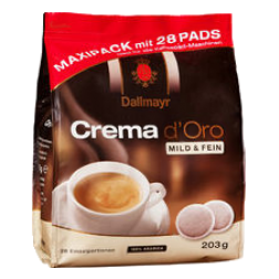 Dallmayr Crema d'Oro mild coffee pads 28pcs
