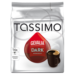 Gevalia Dark Tassimo coffee capsules 16pcs