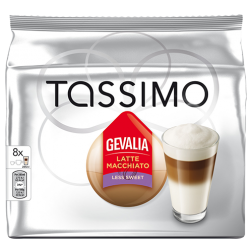 Gevalia Latte Macchiato Less Sweet Tassimo coffee capsules 8pcs