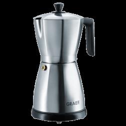 Graef EM80 stainless steel electric espresso maker brushed steel