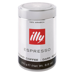 illy Espresso dark roast ground coffee 250g