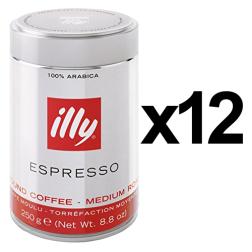 illy Espresso tincan ground coffee 250g x12