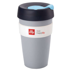 illy live happilly KeepCup coffee cup grey 454ml