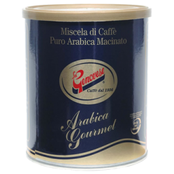 La Genovese Blue Gold Arabica can ground coffee 250g