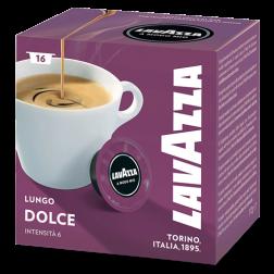 Lavazza A Modo Mio Lungo Dolce coffee capsules 16pcs