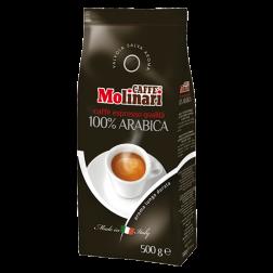 Molinari 100% Arabica coffee beans 500g