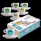 Molinari Emoticons cappuccino cups (inc saucer) 6pcs
