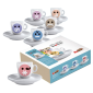 Molinari Emoticons espresso cups (inc saucer) 6pcs